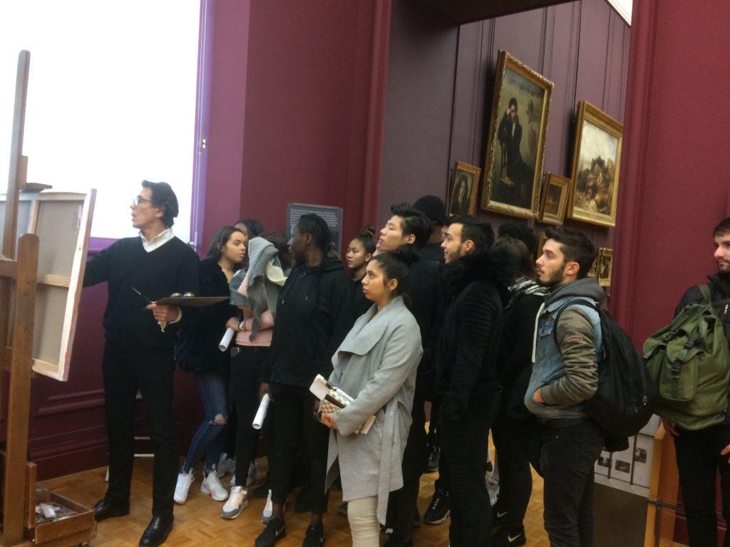 Mes élèves au Louvre
