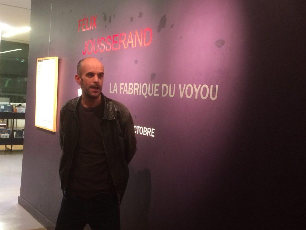 Résidence du poète urbain Félix Jousserand à la médiathèque Marguerite Duras