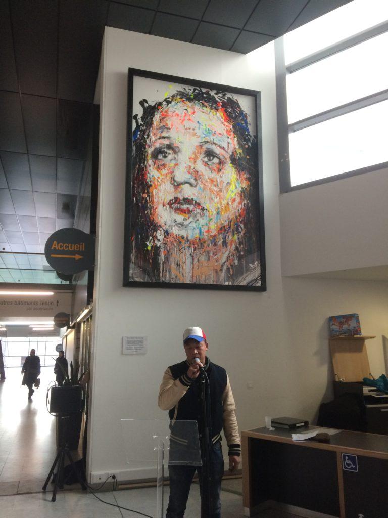 Vernissage œuvre de street art à l'hôpital Tenon